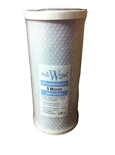 25,4x 11,4cm Carbon Block CTO Wasserfilter Kartusche 5Mikron -