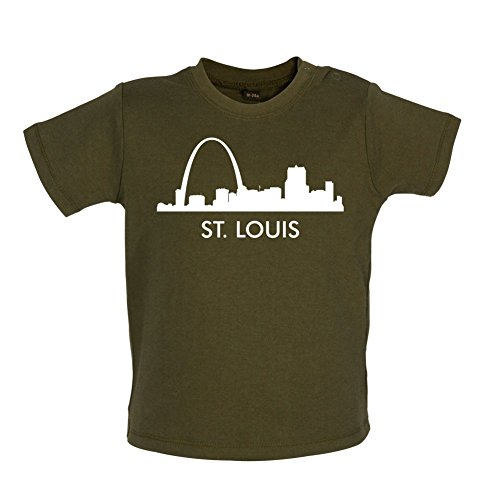 St Louis Silhouette - Baby T-Shirt - Grün Camouflage - 18 bis 24 Monate -
