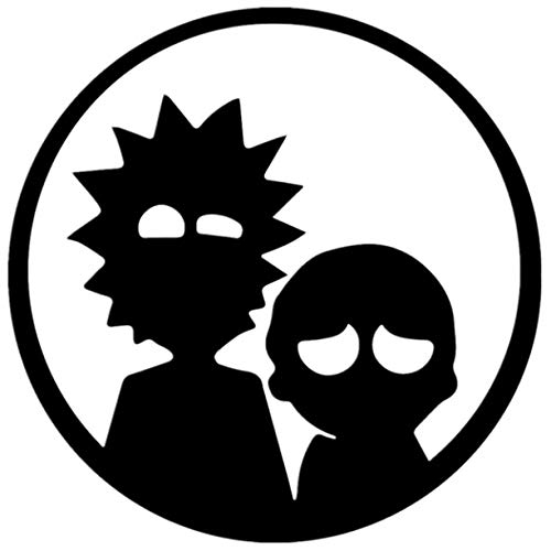 floolter Rick and Morty Funny Car Sticker Vinyl Decal Black for Auto Car Stickers Styling 15 * 15Cm