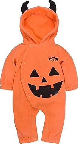 ZOEREA Baby Kinder Strampler Kostüm Kürbis Pumpkin Super süß Halloween Cosplay Party Bekleidung mit (Bestes Halloween-kostüme Für Kleinkinder)