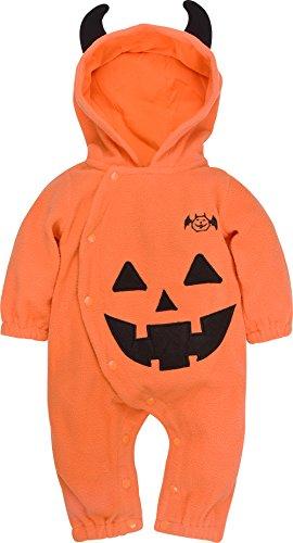 ZOEREA Baby Kinder Strampler Kostüm Kürbis Pumpkin Super süß Halloween Cosplay Party Bekleidung mit (Baby Kostüme Cute Jungen Halloween)