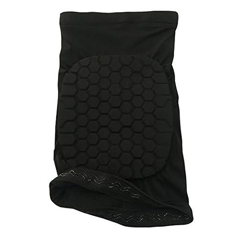 Genouillère élastique de compression courte protège genou support pour sport gym-Noir M