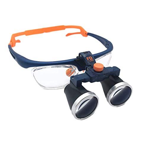 Magnifier Occhiali da Dentista con Binocoli 3.5X Regolazione A Due Vie Montatura Lenti di Ingrandimento Binoculari Lente d'Ingrandimento 420 Mm Fauay