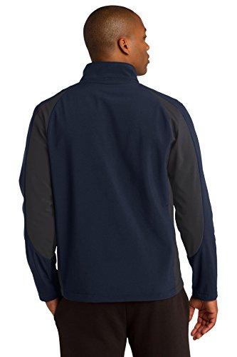 Sport-tek Colorblock Veste softshell St970 True Navy/ Iron Grey