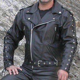 4LIMIT Sports Jacke Moto GSUS Seine Biker Jacke Leder, schwarz, Größe 4x L Moto Biker Jacke