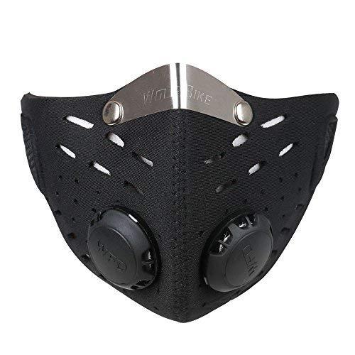 Ewolee Mascara Anticontaminacion - Mascara Neopreno, Mascara Antipolucion con Filtro para Motocicleta...