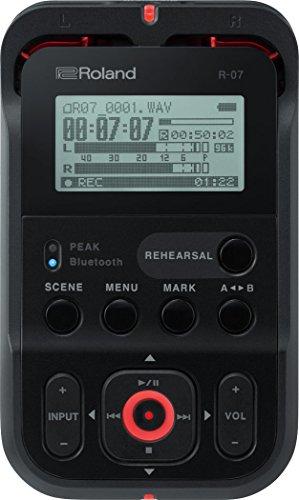 Roland R-07 Hochauflösender tragbarer Audiorecorder, schwarz (Roland Metronom)