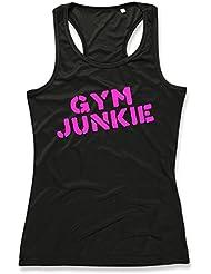 GYM JUNKIE Ladies Sports Vest (Black)