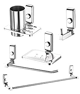 Dazzle Bathroom Accessories Set Stainless Steel Bathroom Set Pack