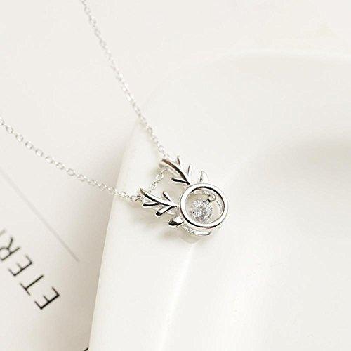 Aoligei Intelligente Geweih Halskette s925 Sterling Silber Weihnachten Geschenk schlagendes Herz Aller Art Gibt es (Schlagendes Herz)