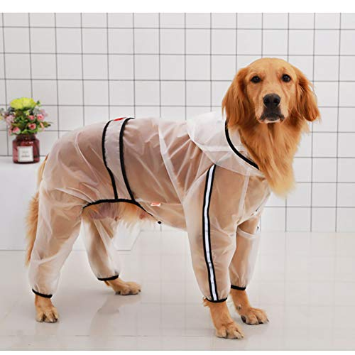 PET HOUND Impermeable Perros Capucha Collar Agujero
