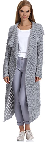Merry Style Damen Strickjacke Hazel (Grau, L/XL)
