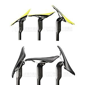 2016Fibra de Carbono Tija de sillín para bicicleta MTB/Road-Tija para sillín de bicicleta tubo de asiento asiento puede adaptarse redondos y ovalados Rails 350/400mm