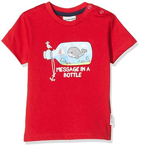 SALT AND PEPPER Baby-Jungen mit maritimen Druck und Stickerei T-Shirt, Rot (Fire Red 377), (Herstellergröße: 92)