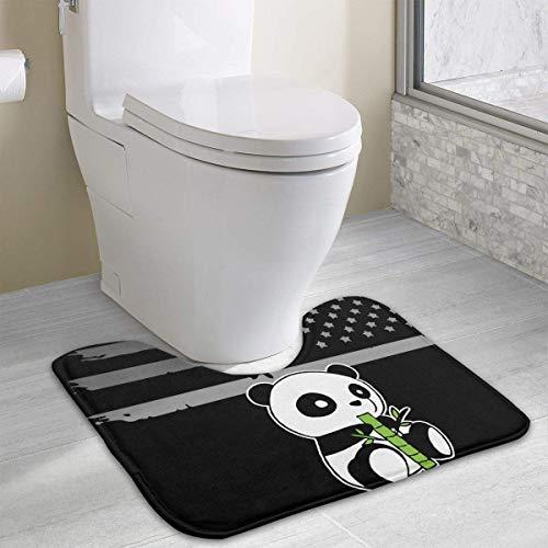 Hoklcvd Cute Panda Drawing U-förmige Toilette Boden Teppich Rutschfeste Toilette Teppiche Duschmatte