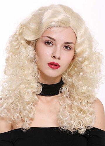 WIG ME UP - 1355AB-613 Damenperücke Perücke lang Volumen Seitenscheitel Locken Pracht Platinblond Hellblond Blond