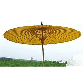 Ars-Bavaria der Extravagante Original Sonnenschirm aus Thailand, Sonnengelb, Super Robuste Bambus Qualität