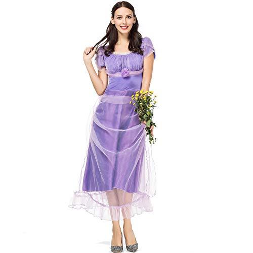 n Kostüm Nussknacker mit vier Königreich Prinzessin Kleider (Color : Purple, Size : M) ()