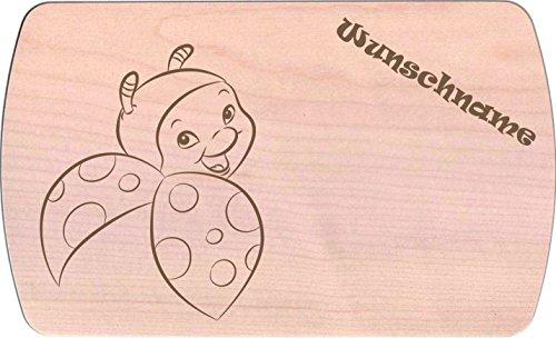 Farbklecks-Collection Frühstücksbrettchen - Marienkäferchen 2