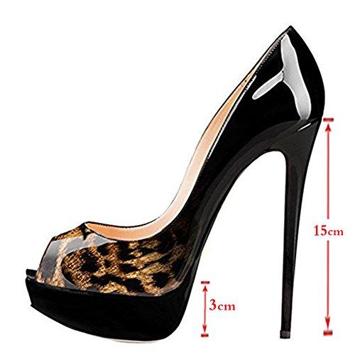 EKS - Ballroom donna Schwarz-Leopard