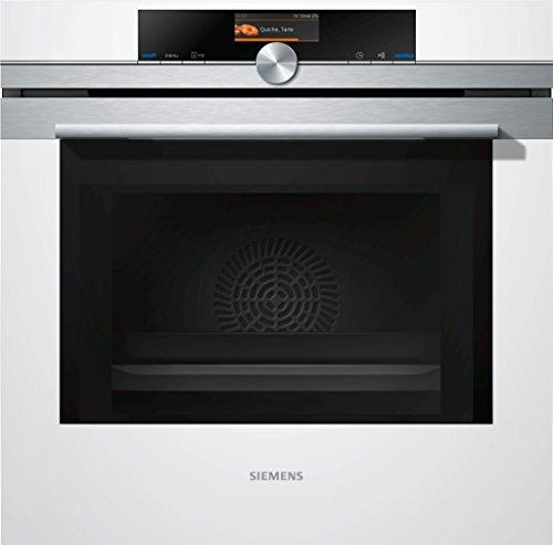Siemens iQ700 Einbau-Elektro-Backofen mit Mikrowelle HM676G0W1 / Weiß / A+ / activeClean Selbstreinigungs-Automatik / varioSpeed / cookControl Plus vollautomatisches Braten