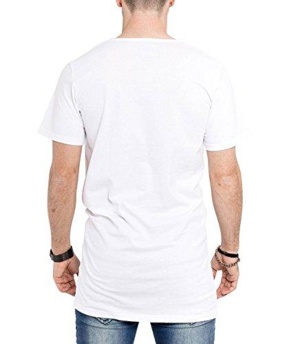 Phoenix Oversize Destroyed T-Shirt Herren Longshirt Schwarz Grau Weiß Weiß