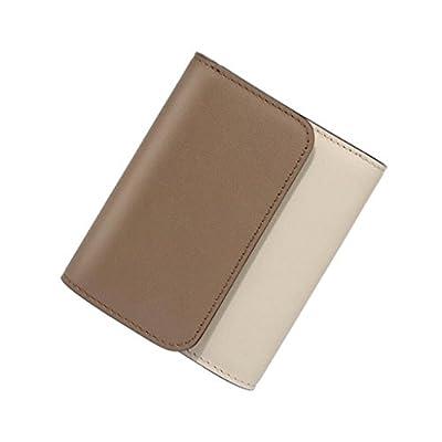 ZLR Mme portefeuille Portefeuille en cuir de petite coupe Wallet de nouvelle section Portefeuille en cuir de vachette à carte multiple