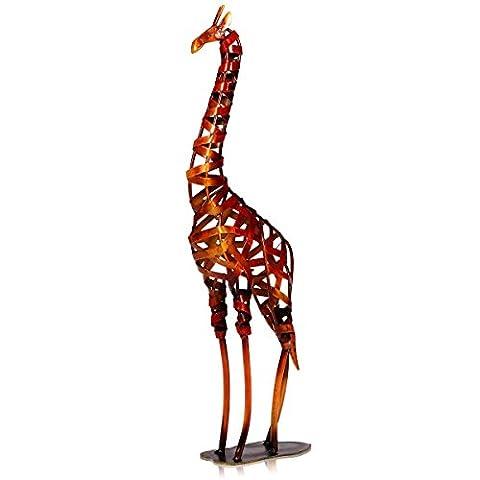 Tooarts Metall Geflochtenes Giraffe Deko Skulptur Dekofigur Moderne Skulptur zum Dekorieren