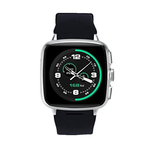 TriLance H10 Smart Watch Wasserdichter Multifunktions-Schrittzähler Blutdruck Herzfrequenz WiFi unterstützt die GPS-Ortung 4G Version SIM-Karte Smart WatchO utdoor Sport Uhr für Herren Damen - Case Audio Sms