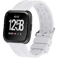Für Fitbit Versa Armband, Minfex Fitbit Armbänder Weiches Verstellbares Sport Ersatz Band Fitness Zubehör mit Metallschließe für Fitbit Versa Smartwatch Damen Herren