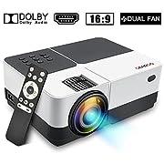 GEARGO Full HD Proyector Cine en Casa                                       Color vibrante:              Con una relación de contraste nítida, proporciona + 30% de lúmenes, + 50% de resolución, + 65% de saturación de color. Proyector p...