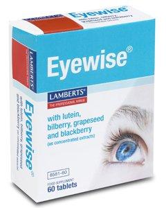 Lamberts Eyewise mit Lutein, Heidelbeere, Traubenkern und Brombeeren Extrakte Nahrungsergänzungsmittel - 60 Tabletten