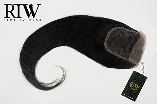 RemyToWear extensions Closure cheveux vierges lisses de taille 40 centimètres. Couleur 1. Chaque paquet contient 40 grammes.