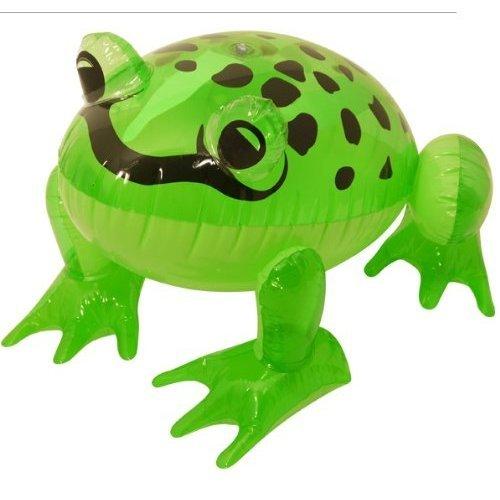 Aufblasbarer Frosch grün 39 cm, tolle Wanddekoration A