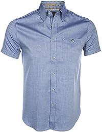 Ted Baker Men's Blue Wooey Short Sleeved Shirt