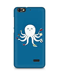 Amez designer printed 3d premium high quality back case cover for Huawei Honor 4C (Funny Octopus)