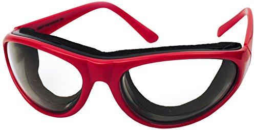 RSVP Onion Goggles w/ Case Tear Free Anti Fog Cutting Chopping Grilling RED