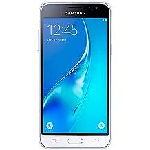 """Samsung Galaxy J3 - Smartphone libre de 5"""" (WiFi, Quad-core 1.2 GHz Cortex-A7, 1.5 GB de RAM, 8 GB de memoria interna, cámara de 8 MP, Android), color blanco (versión española)"""