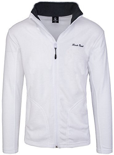 Rock Creek Herren Fleecejacke Sweatjacke Herrenjacke Übergangsjacke H-139 [White XXL]