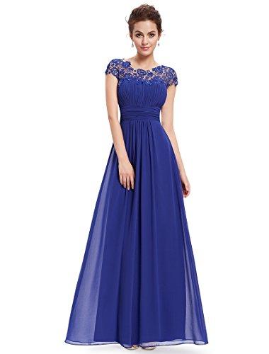 Ever-Pretty - Robe - Taille empire - Femme Bleu sapphir