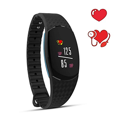 C-Xka Smart Armband, Mini 0.96inch Bildschirm Fitness Tracker, IP67 Wasserdicht Blut Smart Armband mit Pulsmesser Blutdruckmessgerät Schrittzähler Schlaf Monitor