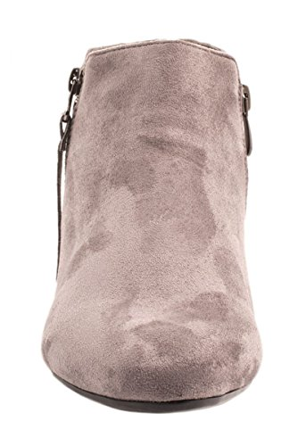 Bequeme Boots Chelsea Confortáveis Damen Wildlederoptik Óptica Boots ankle Elara Stiefeletten Cinza Mulheres Grau Botina Elara Camurça d5Iqxzw