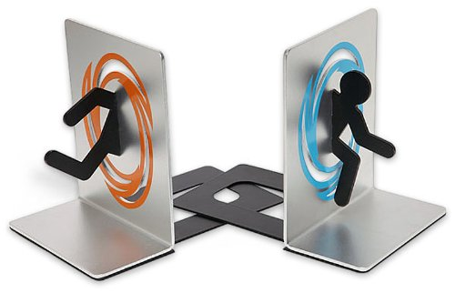 Portal Buchstützen Set aus 2 Aluminium-Buchstützen - Zwei Buchstützen