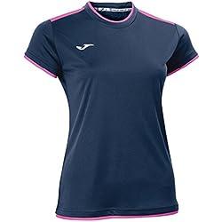 Joma Katy - Camiseta para Mujer, Color Azul Marino, Talla L