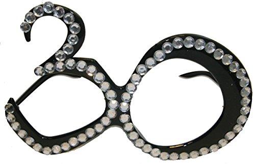 CREATIVE 30 gafas negras sin cristal y pedrería 30 años 0,074,930 años