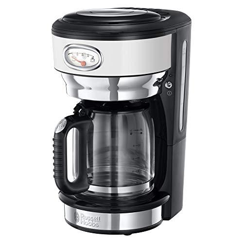 Russell Hobbs 21703-56 Glas-Kaffeemaschine Retro Classic Blanc, 1.25l, Brausekopf-Technologie, Retro...