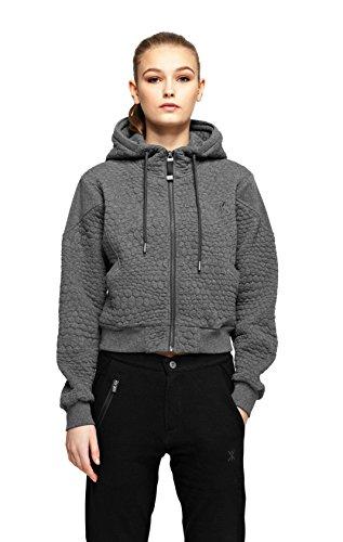 OnePiece snug sweat-shirt zippé à capuche pour femme Gris (Dark Grey Mel)