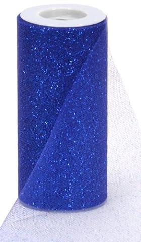 YCNK 6 Zoll 25 Yard-Funkeln-Tulle-Rollen-Hochzeits-Geschenk-Bogen-Fertigkeit-Dekor-Ballettröckchen-Kleid-Partei-Dekorationen-Tabellen-Schärpen (Königsblau)