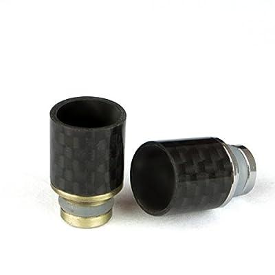 Drip Tip 510er Mundstück Carbon Optik schwarz E Zigarette Zubehör von carbon-alpar