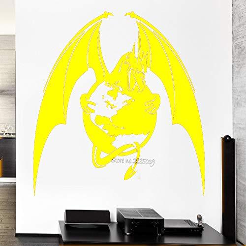 zqyjhkou Mythologie Drachen Wandtattoos Film Fantasie Monster Coole Aufkleber Dekorative wasserdichte Poster Wandaufkleber Wandbild 3 44x42 cm
